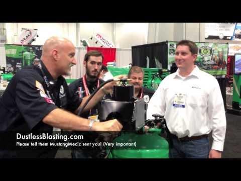 Dustless Blasting SEMA 2013 MustangMedic Adventure - Part 16 Ford Media sand blaster