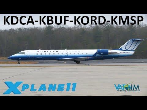 X-Plane 11 | Buffalo, Chicago & Minneapolis!! | Crj200 A320 | VATSIM | East Coast Hopin'
