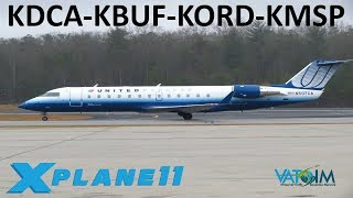 X-Plane 11   Buffalo, Chicago & Minneapolis!!   Crj200 A320   VATSIM   East Coast Hopin'
