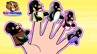 Finger Family Penguins | Early Childhood Lesson, Learn English Song, Teach Members Of The Family