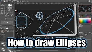 How to Draw Ellipses [Cylinders & Spheres] Accurately - Construction Techniques