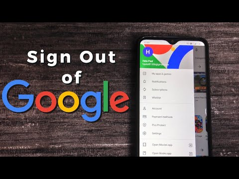 How To Sign Out Of Google Account - Android