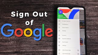 How to sign oขt of Google Account - Android