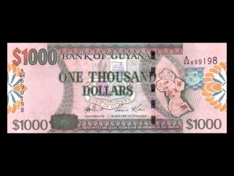 All Guyanese Dollar Banknotes - 2005 To 2013 Issues