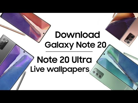 Download Galaxy Note 20 Note 20 Ultra Stock Live Wallpapers Youtube