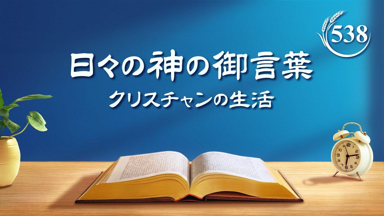 日々の神の御言葉「性質が変化した人とは神の言葉の現実に入った人である」抜粋538