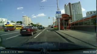 Авария с переворотом Mercedes ML