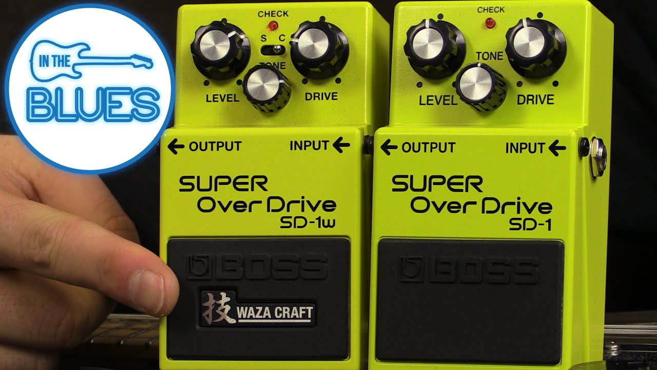 boss sd 1 waza craft vs boss sd 1 standard overdrive pedal