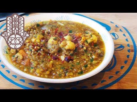 lentilles-aux-légumes-à-la-marocaine