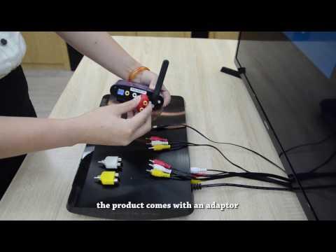 Remote 5.8GHz/2.4GHz Wireless Audio/Video Transmitter Receiver