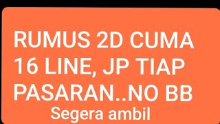 TRIK SAKTI 2D,16 LINE TANPA BB,JP SETIAP PASARAN.