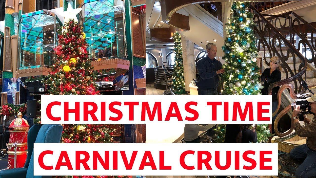 Carnival Conquest Christmas Devorations 2020 BEHIND THE SCENES: How Carnival Cruise Line Decorates For