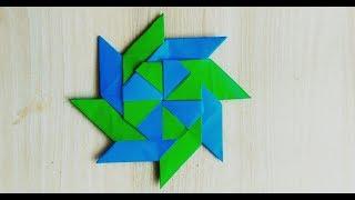 Сюрикен из бумаги/Метательная звезда ниндзя