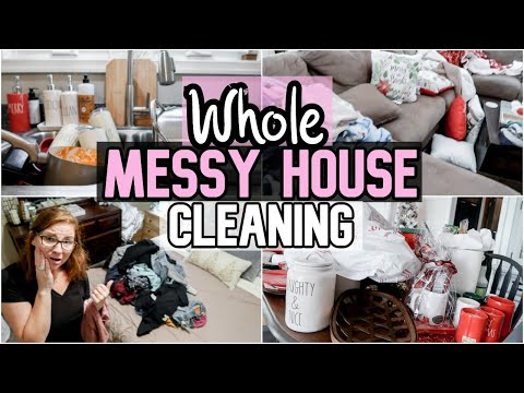 NEW! EXTREME ALL DAY WHOLE HOUSE CLEAN WITH ME 2019 | MESSY HOUSE DEEP CLEANING | SAHM MOTIVATION