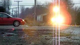 Inrd Nearly Hits a car