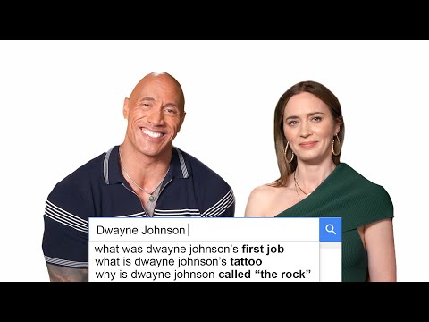 Emily Blunt & Dwayne Johnson Answer The Web's Most Searched Questions   WIRED