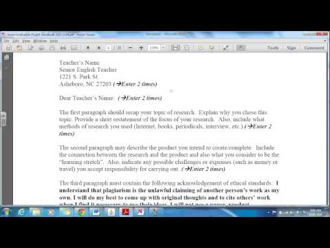 Creating your Letter of Intent