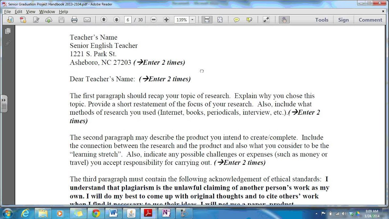 creating your letter of intent creating your letter of intent