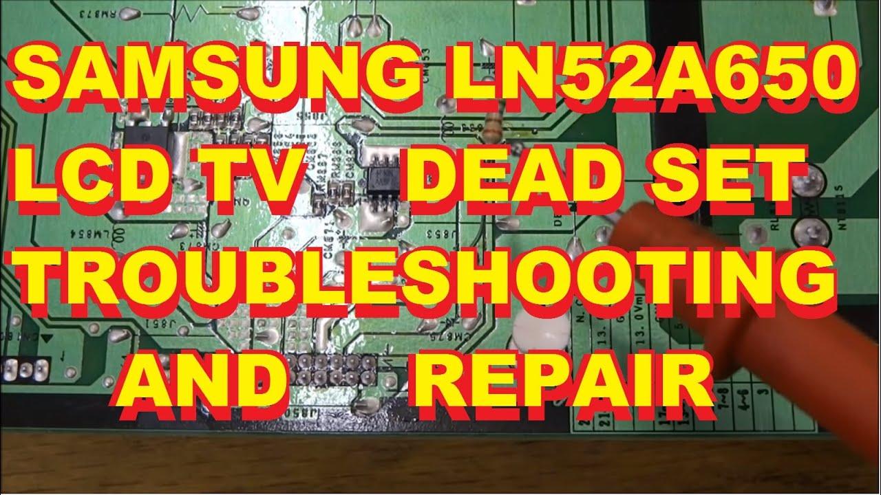 Samsung LCD LN52A650 No Dead Set BN44-00200A Power Supply Repair Fix ...