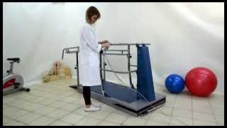 Adjusting the height of the hand rails - Dynamic Stair Training - DPE Medical - Staircase Training