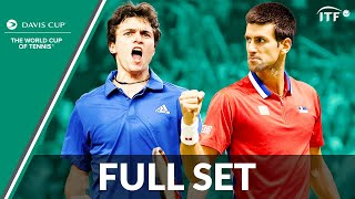 Novak Djokovic v Gilles Simon | Davis Cup Final 2010 | Full Set