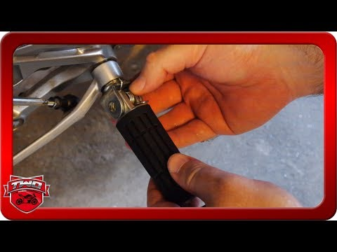 How To Install Rubber FZ09 MT09 Pegs Upgrade