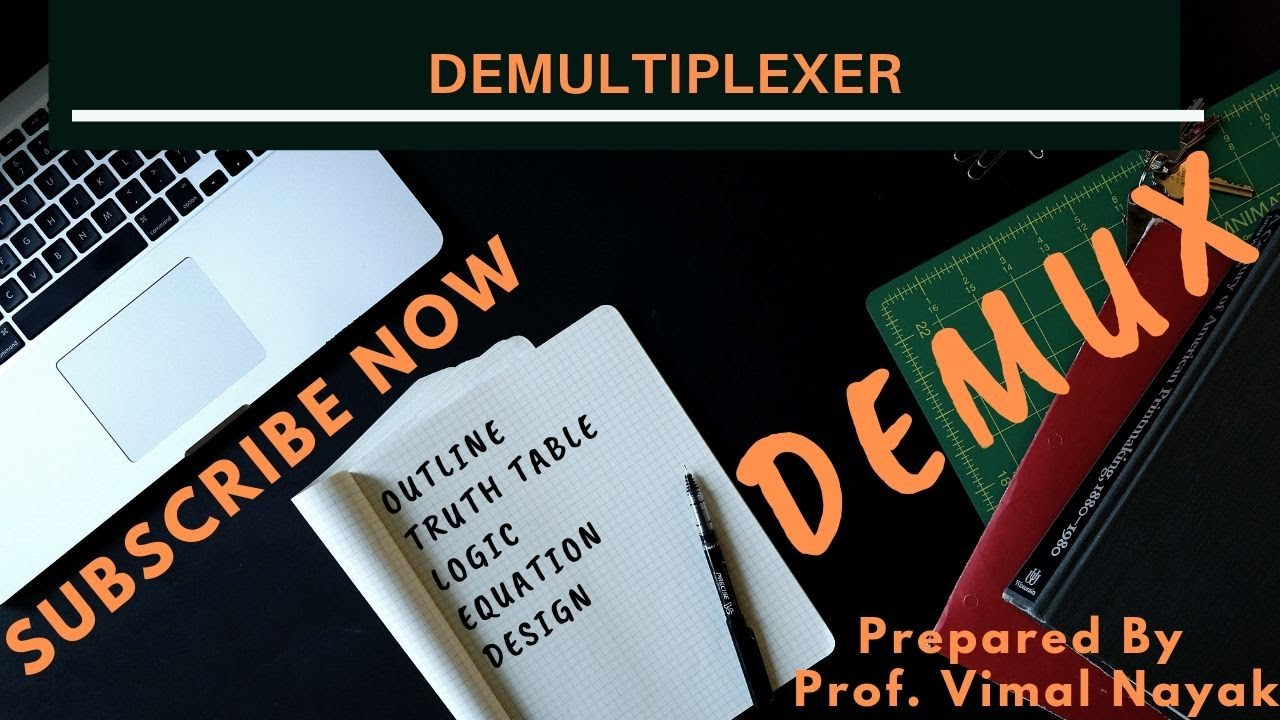 demultiplexer(full implementation || truth table || circuit || boolean  equation || logic )