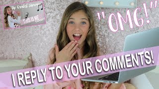 reacting to comments about my singing rosie mcclelland