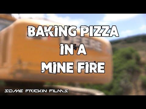 BAKING PIZZA IN A COAL MINE FIRE!!
