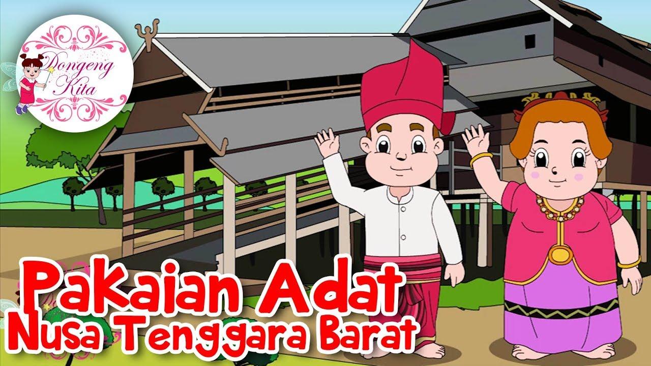 Pakaian Adat Sulawesi Utara Kartun