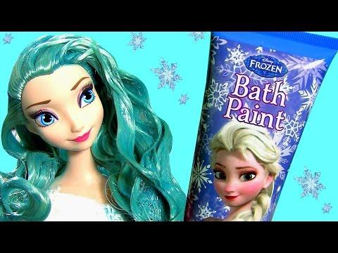 Como Pintar o Cabelo da Princesa Elsa com Tinta Azul