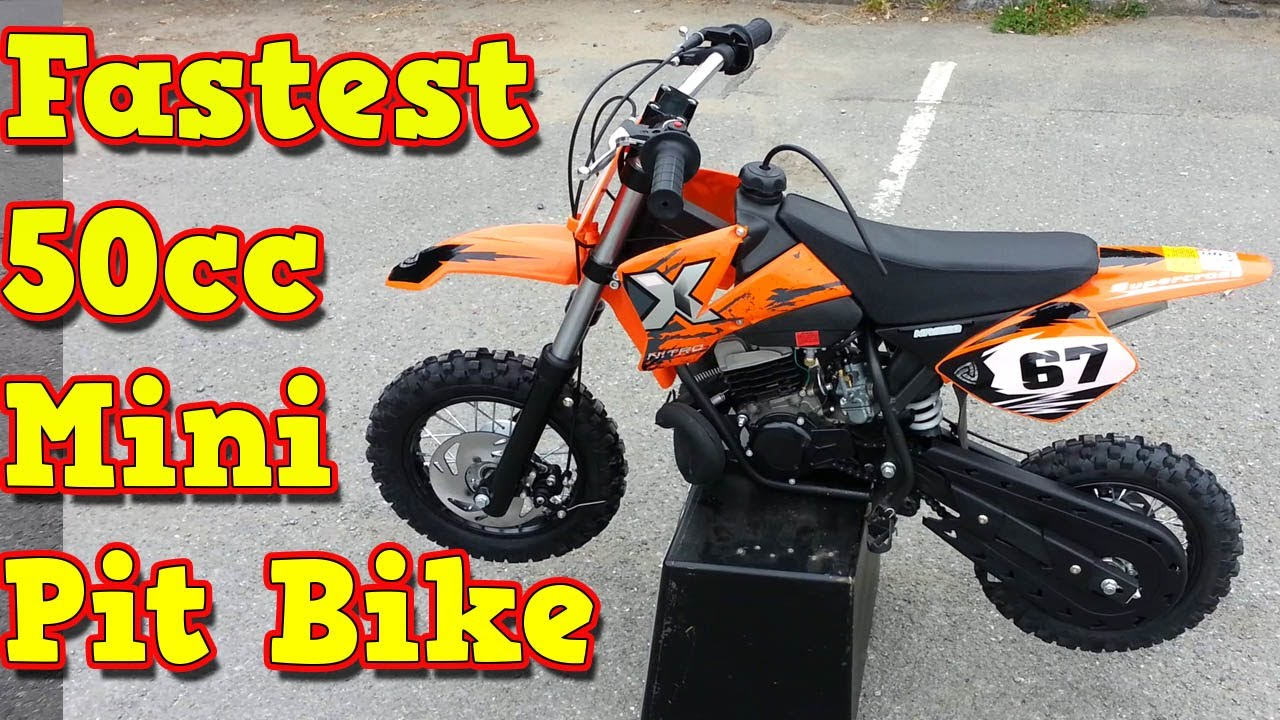 Fastest Mini Pit Bike KTM 50 Replica !! NRG50 from Nitro Motors