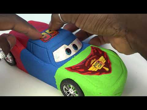Thumbnail: DIY Kinetic Sand Cars 3 Lightning McQueen PJ Masks Colors Kinetic Sand Disney Pixar Cars 3 Movie