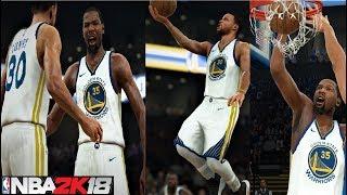 NBA 2K18 Roster Stephen Curry,Kevin Durant & Klay Thompson vs Thunder