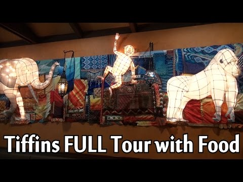 Tiffins Restaurant FULL Tour with Food at Disney's Animal Kingdom, Dining Package Experience