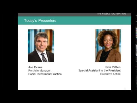 Kresge Community Finance Webinar