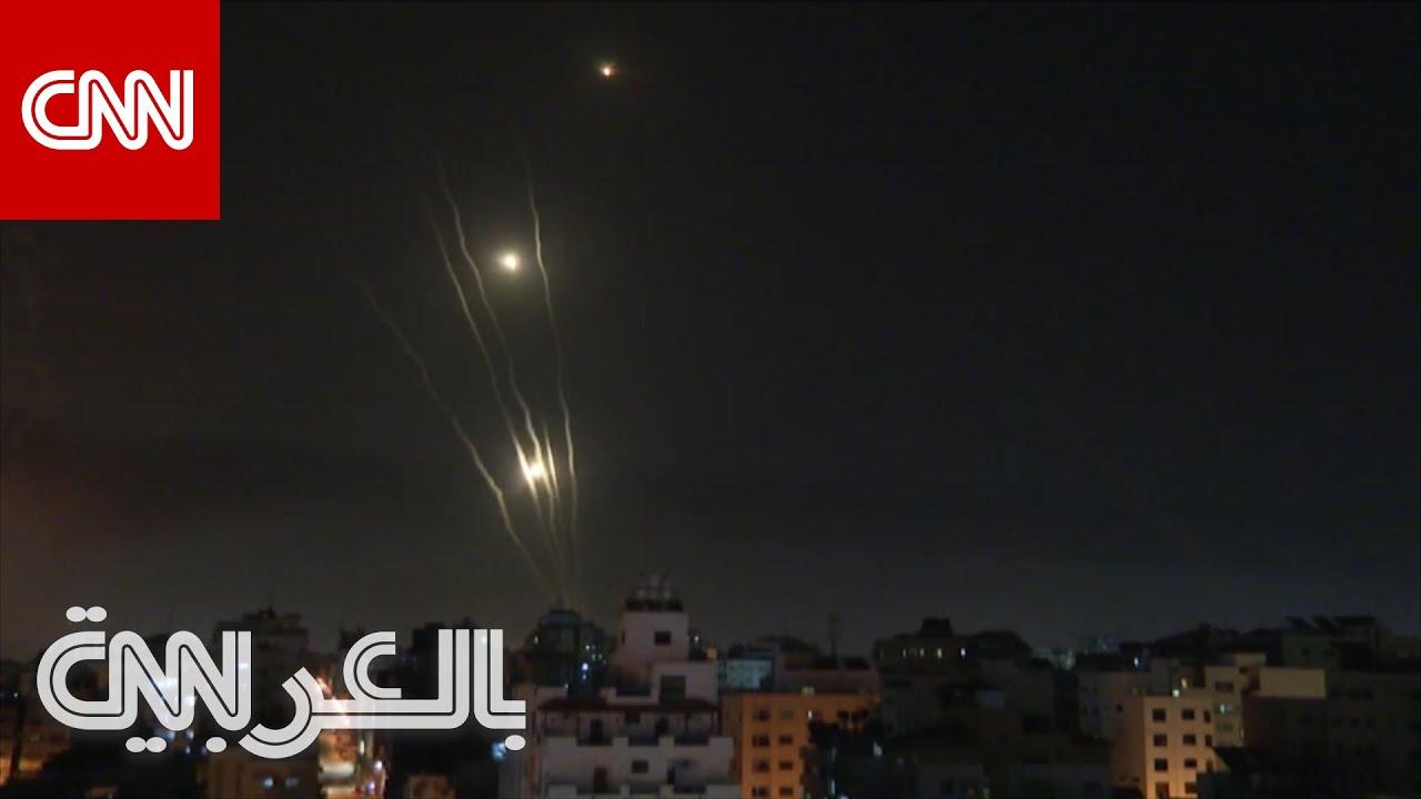 لحظة إطلاق صواريخ من غزة إلى إسرائيل فجر الأربعاء  - نشر قبل 4 ساعة
