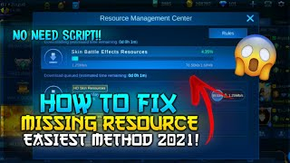 How to Download Missing Resources in Mobile Legends 2021 ✅ (Tutorial Fix) | Mobile Legends