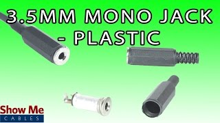 3.5mm Plastic Mono Jack - DIY Project to Repair Your Audio Cable #981