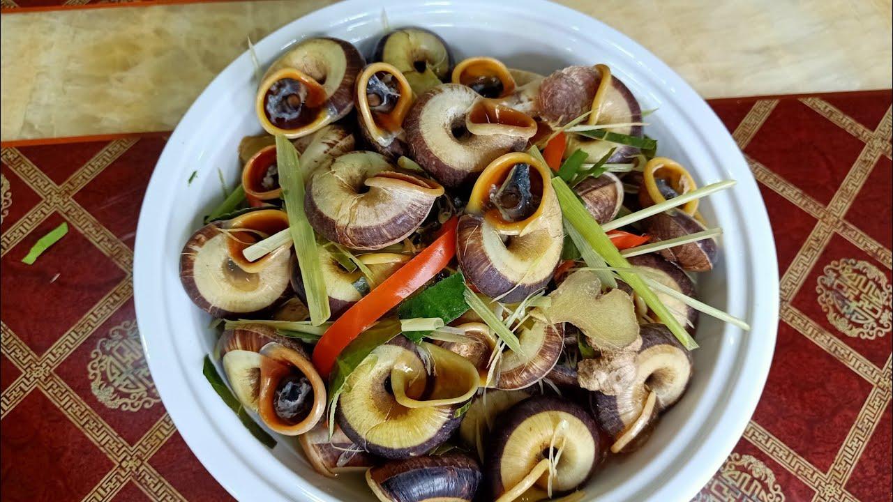 Cách nấu món ốc đá xả ớt/ ốc đá xào xả ớt cực ngon ( cách khử nhớt của ốc)