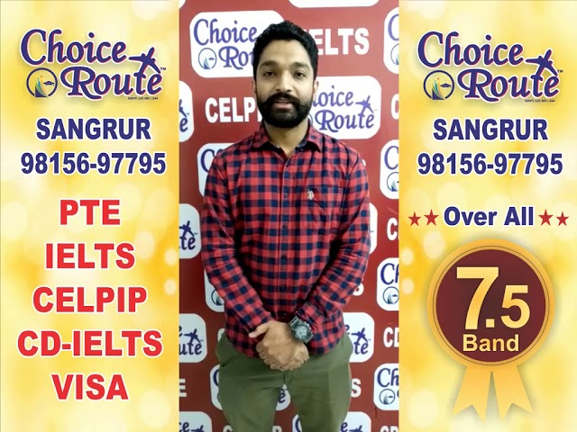 Congratulation Manpreet - Choice Route is the Best PTE and IELTS institute in Sangrur City.