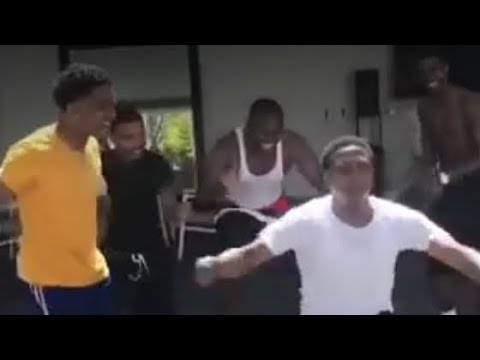 "Shiggy dancing with Diddy sons King Combs and Justin Combs ""The West"" - 03 Greedo and King Combs !!!"