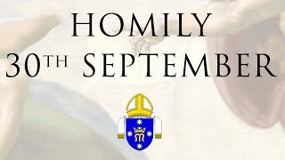Homily 30th September 2018