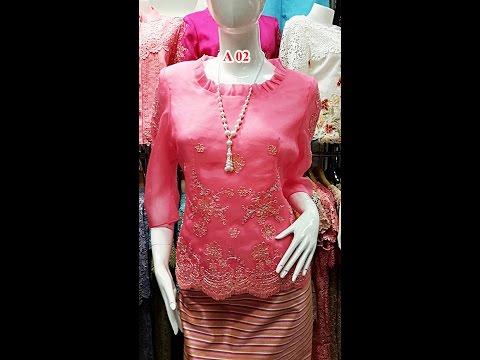 Chantubtim TV ตอน ร้าน ลูกไม้ไทย แบบ เสื้อ ผ้าไหมแก้ว เบอร์ 38-48