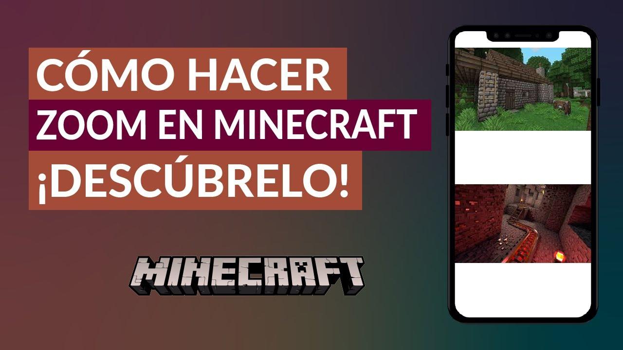 Como Hacer Zoom en Minecraft para ver las Cosas de Cerca ¡Muy fácil!