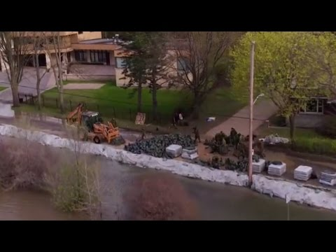 WATCH: Drone footage of flooding in Pierrefonds - YouTube