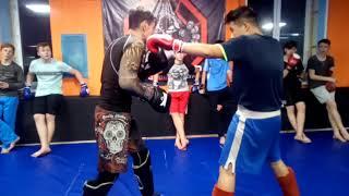 Учимся бить оверхэнд.  Тайский бокс, Кикбоксинг и Смешанные единоборства ММА.