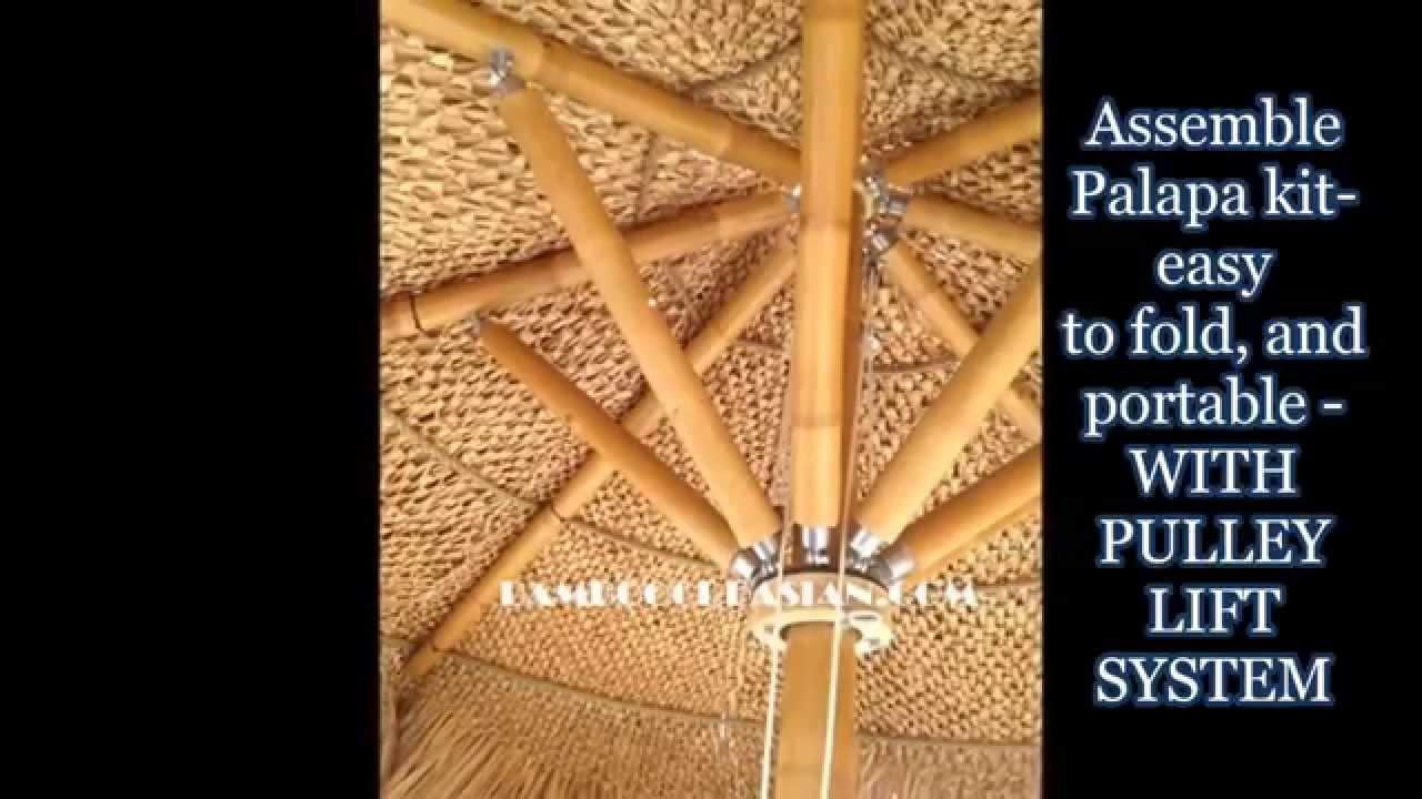 Palapa Kitbamboo Umbrellas Folding Thatched Palapas