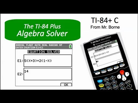 How To Use The Alge Solver On The Ti