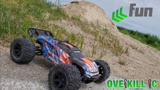 Traxxas E-Revo 2.0 Takes on a Gravel Pile | 6s Bashing | Overkill RC